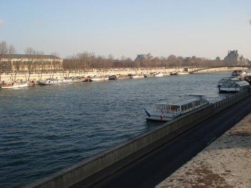 Rio Sena, Paris, dezembro de 2008