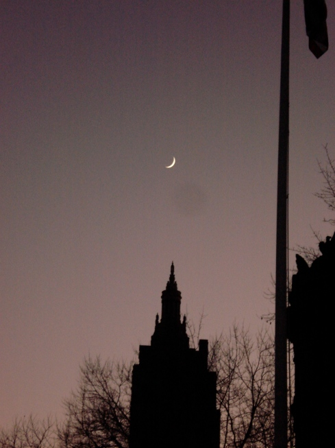 Começo da noite em Nova York, dezembro de 2006/ imagem: arquivo pessoal