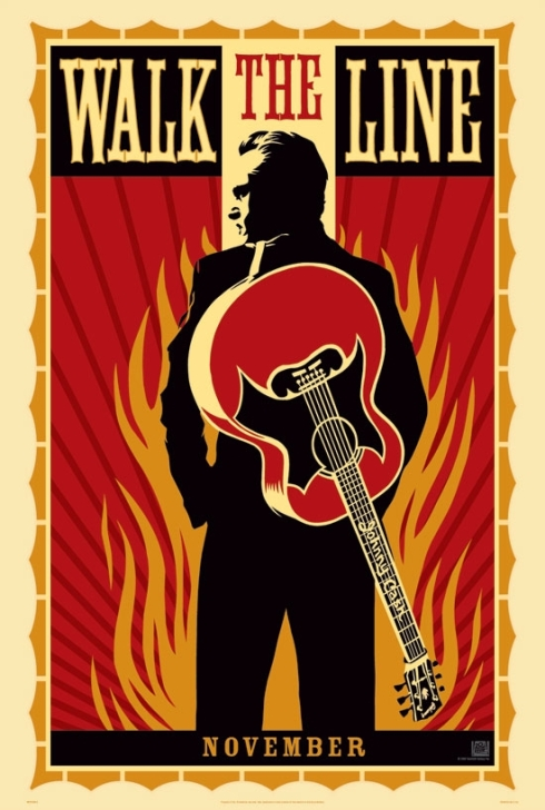 "Pôster do filme ""Johnny e June"", desenvolvido por Shepard Fairey"