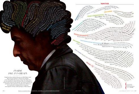 Infográfico sobre Bob Dylan, publicado originalmente na revista Vanity Fair (clique na imagem para ampliar)