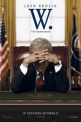 """Cartaz de divulgação do filme """"W."""", de Oliver Stone"""