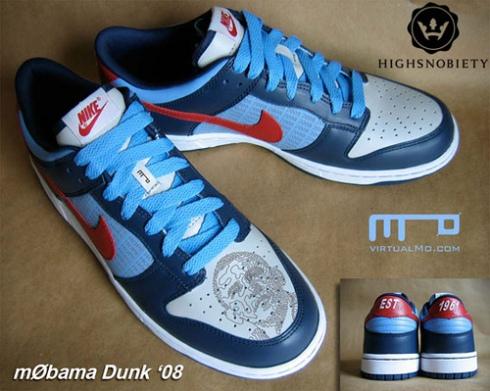 Tênis com o rosto de Obama criado pela Nike