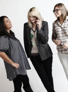 As três sócias: Samantha, Carla e Daniela