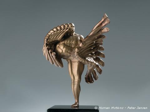 """""""Heel Kick"""" também em bronze"""