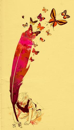 borboletas menino